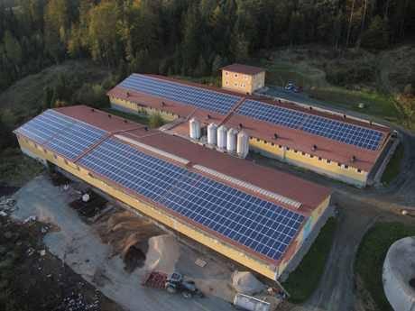 Photovoltaik Dachanlage mit 200 KWp Leistung1