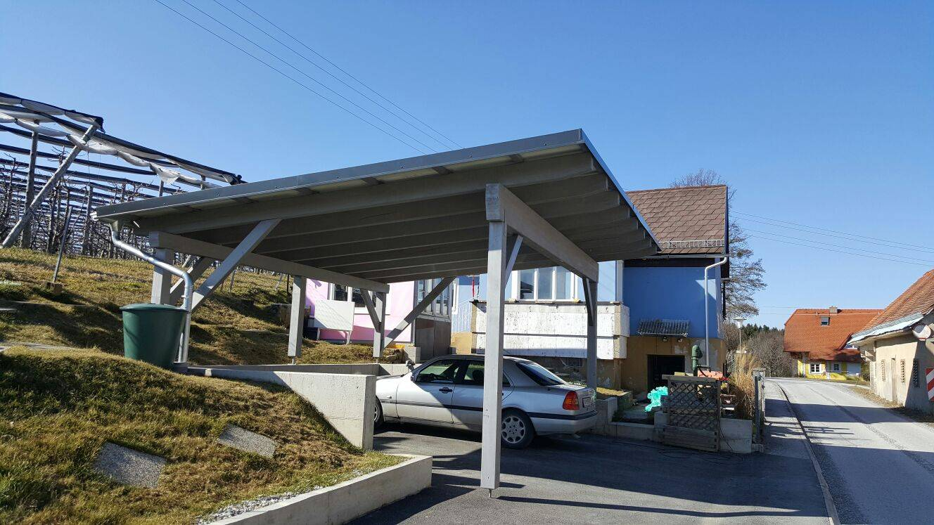 Carport with 4.5 kWp PV system and battery storage - MC Capital